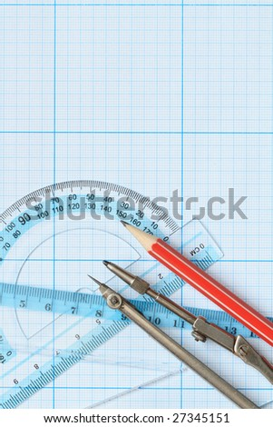 Drawing tools on graph paper
