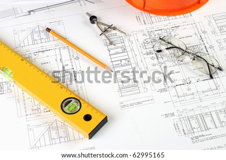 drawings of building homes and Tools