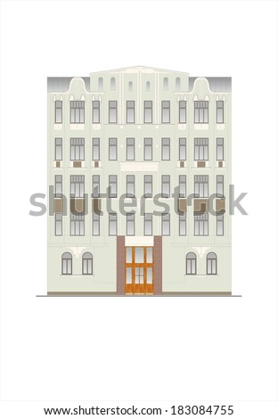 Drawings Of Houses Of Classical Architecture Of The End Of 18 19 20 Century Stock Images Page Everypixel