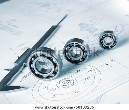 Drawings of the engineer of mechanical engineering.