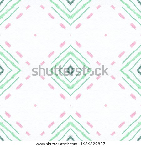 Drawn by Brush Mexican Pattern. Seamless Traditional Triangles. Pink Ethnic Ornament. Mexican Pattern. Grunge African Carpet. Rhombus Textile. Rhombus Texture. Ikat Print. Mexican Pattern.