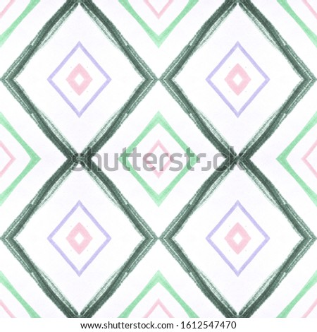 Drawn by Hand Mexican Pattern. Seamless Traditional Triangles. Pink Aztec Ornament. Mexican Pattern. Abstract American Tile. Rhombus Chevron. Rhombus Shapes. African Carpet. Mexican Pattern.
