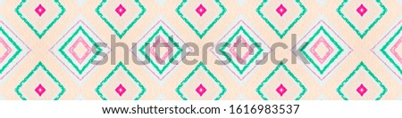 Drawn by Hand Mexican Pattern. Seamless Watercolor Zigzags. Pink Ethnic Background. Mexican Pattern. Organic African Print. Rhombus Shapes. Rhombus Textile. Aztec Ornament. Mexican Pattern.