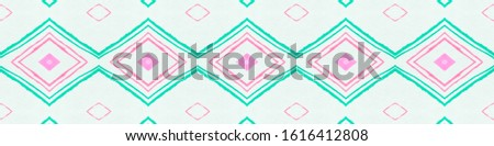 Drawn by Water Mexican Pattern. Seamless Watercolour Triangle. Green Ethnic Ornament. Mexican Pattern. Abstract African Tile. Rhombus Chevron. Rhombus Texture. Ethnic Background. Mexican Pattern.