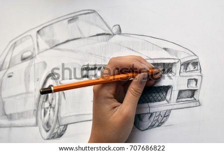 Drawn car #707686822