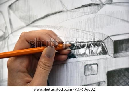 Drawn car #707686882