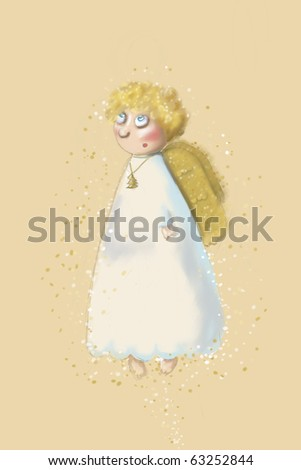 Drawn Christmas Angel