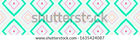 Drawn in Bold Mexican Pattern. Seamless Watercolour Stripes. Pink Aztec Background. Mexican Pattern. Abstract African Tile. Rhombus Textile. Rhombus Shapes. Tribal Ornament. Mexican Pattern.