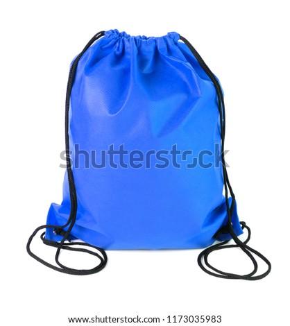 drawstring pack isolated on white background #1173035983