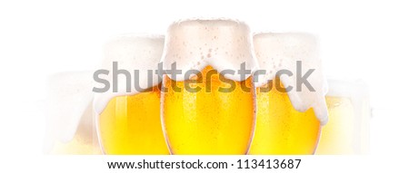 dream about Frosty glass of beer on a white background