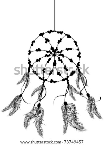 Dream catcher icon, isolated object over white background