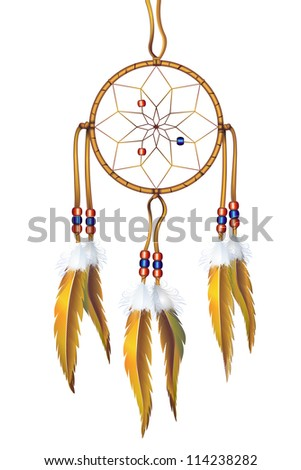 Dream Catcher Isolated on White