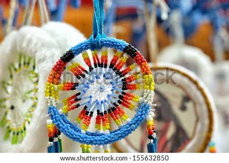 Dream catchers closeup image