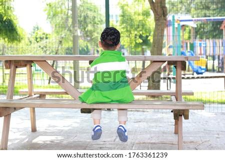 dream children düşünen çocuk park Stok fotoğraf ©