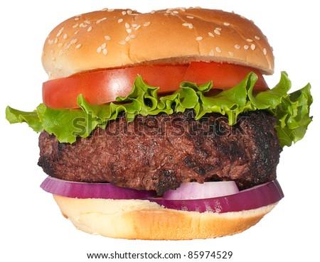 Dream hamburger isolated on white