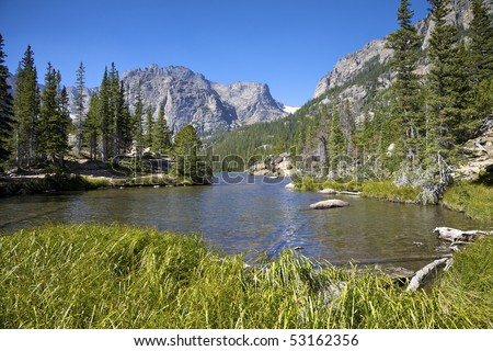 Dream Lake and Hallet Peak, Rocky Mountain National Park, Estes Park, Colorado, USA