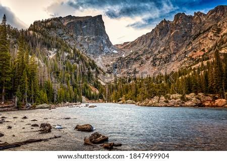 Dream lake in the Rocky Mountan National Park, Colorado Stock photo ©