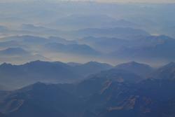 Dream like hazy mountains. Perfect landscape