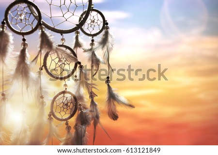 dreamcatcher at sunset with...
