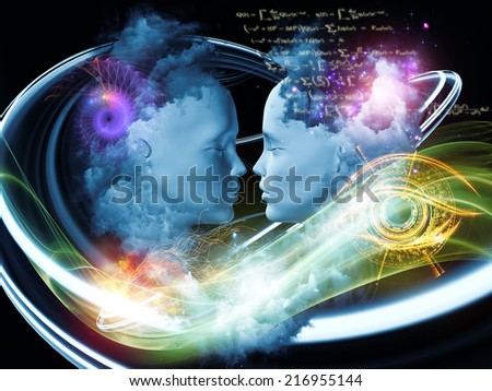Dreaming Intellect series. Visually attractive backdrop made of human face and technological elements suitable as element for layouts on mind, reason, intelligence and imagination