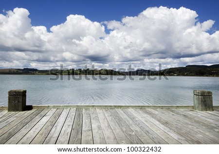 Dreaming on a empty wooden pier.