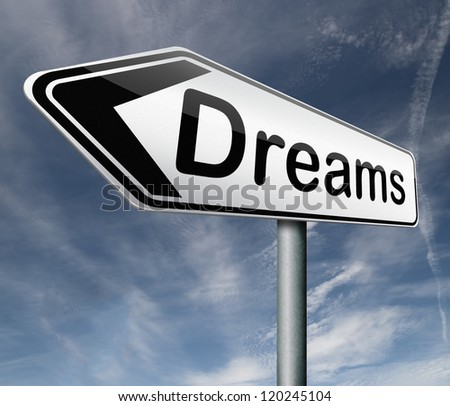 dreams realize and make your dream come true be successful and accomplish your goals
