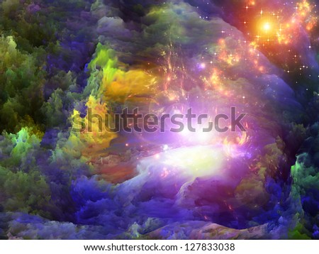 Dreamscape Series. Background design of colorful fractal paint and lights on the subject of art, abstraction and creativity