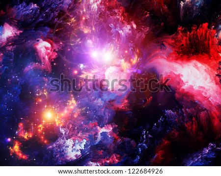 Dreamscape Series. Design composed of colorful fractal paint and lights as a metaphor on the subject of art, abstraction and creativity