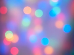 Dreamy colorful bokeh lights for backdrop