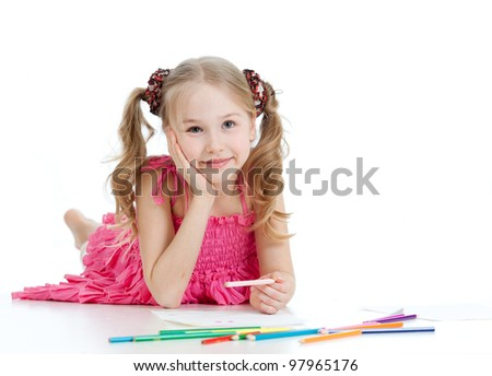 dreamy girl with pencils
