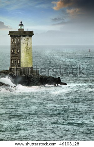 Dreamy scene with a famous lighthouse