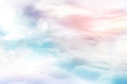 dreamy sky background colorful clouds