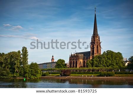 Dreikonigskirche - an evangelical church in Frankfurt, Germany