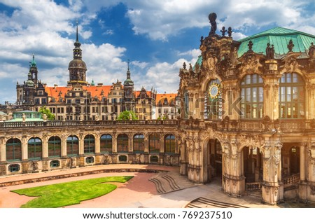 Photo of  Dresden Cathedral of the Holy Trinity or Hofkirche, Dresden Castle in Dresden, Saxony, Germany