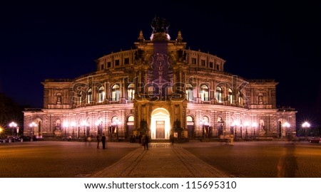 DRESDEN, GERMANY- MAY 31: The Semperoper is the opera house of the Schsische Staatsoper Dresden (Saxon State Opera) and the concert hall of the Schsische Staatskapelle Dresden. May 31, 2012