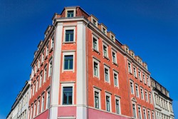 Dresden, Germany - Refurbished old building in the old town