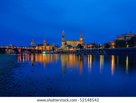 Dresden old town night
