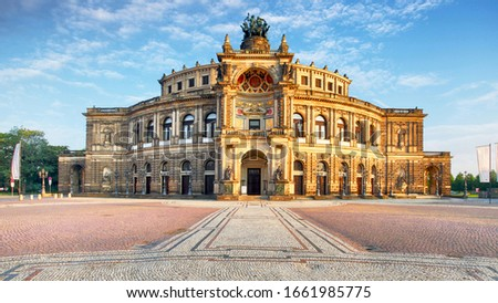Photo of  Dresden opera theatre, front view