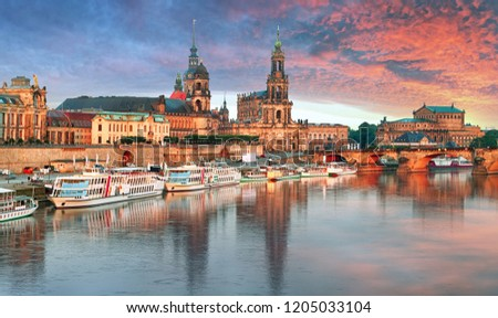 Photo of  Dresden panorama at sunset, Germany