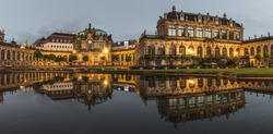Dresdner Zwinger in the beautiful oldtown, dresden, saxony, germany