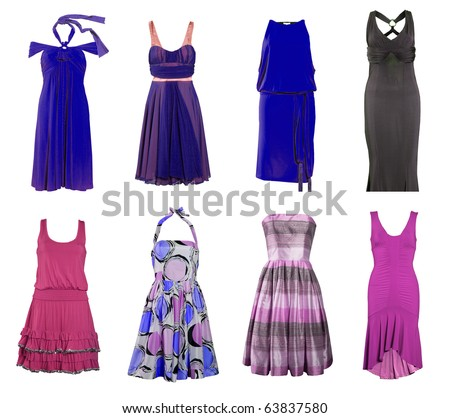 dress collection - stock photo