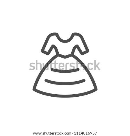 Dress line icon isolated on white