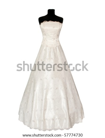 dress on a mannequin on a white background
