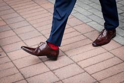 Dress shoes and socks