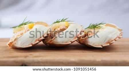 dressed crab shells #1091051456