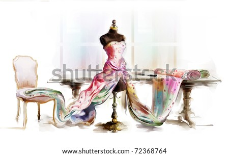 dressed table top mannequin