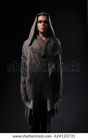 dressed women with different designs as warrior women.  #624120731