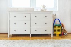 Dresser for dressing babies. Bedroom for children
