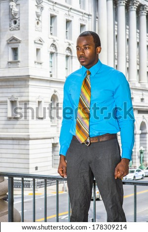Royalty free dressing in blue suit tie leather for Blue dress shirt grey pants