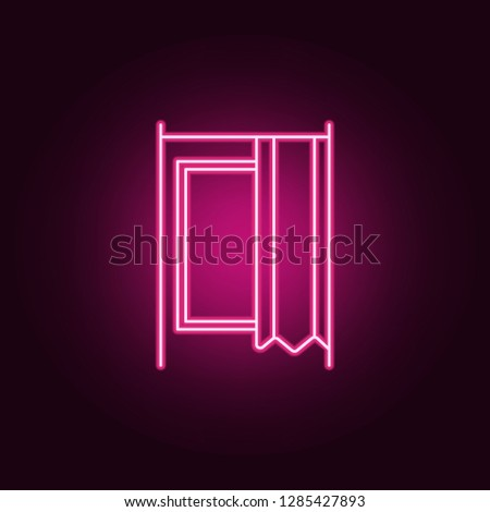 dressing room in store outline icon. Elements of Mall Shopping center in neon style icons. Simple icon for websites, web design, mobile app, info graphics
